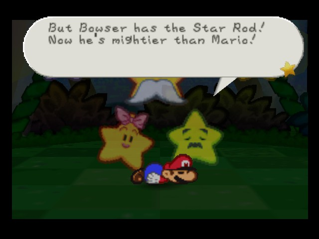 Paper Mario - Cut-Scene  - Yeah, but Mario will kick his butt in the end - User Screenshot